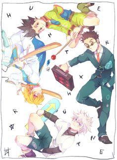 Gon, Leorio, Killua, and Kurapika        ~Hunter X Hunter