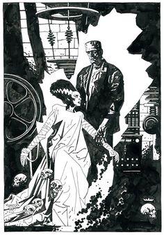 Bride of Frankenstein by Mike Mignola- Comic Alliance Best Art Ever (This Week)