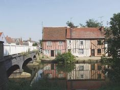 17th Century Cottages by the River Colne,Middleborough Colchester, Essex, England
