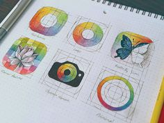 Chroma - icon sketch designed by Eddie Lobanovskiy. Connect with them on Dribbble; Web Design, Sketch Design, Icon Design, Logo Design, Sketch Icon, Sketches, Portrait Cartoon, Industrial Design Sketch, Logo Color