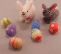 Items similar to Spring Small Felted Wool Easter Love Bunny, Set of 2 Bunnies 6 Tiny Decorated Easter Eggs. Perfect for Easter Baskets on Etsy Build A Bear, Easter Baskets, Wool Felt, Easter Eggs, Bunny, Felting, Spring, Etsy, Holidays