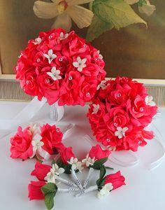 13Pc Wedding Bridal Bouquet Silk Flower by amazingweddingflower, $179.99