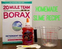 how to make glitter slime