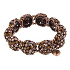 Bauble-Bangle Natural Grace Adele Bracelet  $55.00    Faux gemstones twinkle upon this shining, scalloped bangle. Just add heels for the perfect going-out look