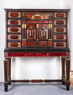 17th Century Flemish (Amberes) Cabinet un Tortoise Shell and Ebony | From a unique collection of antique and modern cabinets at https://www.1stdibs.com/furniture/storage-case-pieces/cabinets/