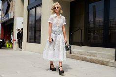 Le foto dallo street style della New York Fashion Week