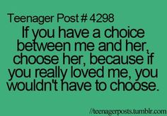 Just choose her..