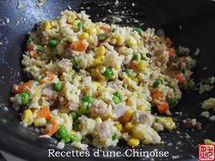Recettes d'une Chinoise: Le riz cantonais 广式炒饭 guǎngshì chǎofàn
