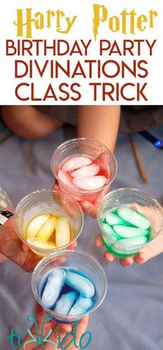 Easy fortune teller trick for a Divinations Class activity at a Harry Potter birthday party.