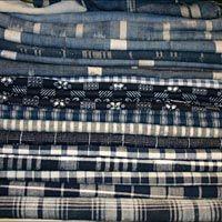Indigo dyed antique textiles from Julia Boston Antiques, London