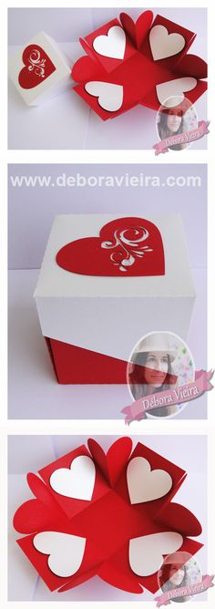 Decorating a Bedroom with Papered Boxes Diy Paper, Paper Crafts, Exploding Gift Box, Explosion Box, Craft Box, Pop Up Cards, Diy Box, Valentines Diy, Diy Gifts