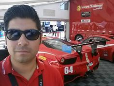 Brandware's Efrain on set for a heated Ferrari race - what did you do this weekend?!