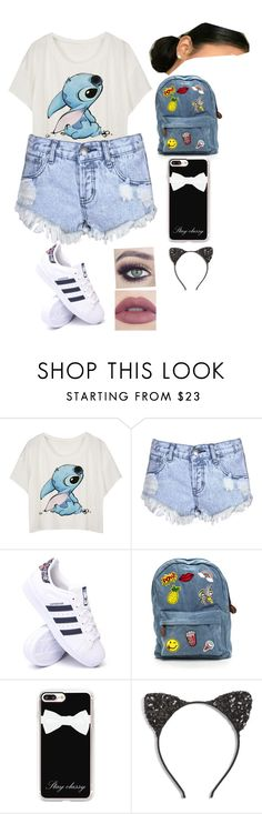 """School/ hanging out outfit."" by babycomics ❤ liked on Polyvore featuring Glamorous, adidas, Casetify and Cara"