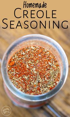 This Creole Seasoning is a wonderful blend of spices that could only come from New Orleans! Perfect for adding flavor to so many dishes! Homemade Spice Blends, Homemade Spices, Homemade Seasonings, Spice Mixes, Cajun Spice Recipe, Homemade Cajun Seasoning, Creole Seasoning, Seasoning Mixes, Soul Food Seasoning