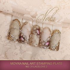 Nail art with Moyra Stamping Plate No. 31 Lacelove 2, Moyra SuperShine Colour Gel No. 540 Caffe Latte, Moyra Stamping Polish SP 09 Gold, Moyra Magic Foil  #moyra #nailart #stamping #plate #lacelove2 #supershine #colourgel #caffelatte #koromnyomda #koromdiszites #szineszsele #stampingpolish #nyomdalakk #gold #arany #magicfoil #watercolours