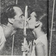 "Celebrities ""playing tennis"" ;) Audrey Hepburn Edition"