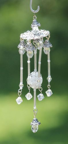Miniature Fairy Garden Wind Chime Dollhouse by TheHawthornBranch