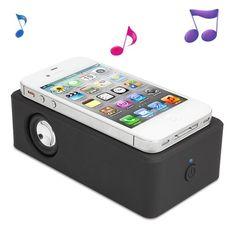 Teknoloji Severler için Boose Kablosuz Hoparlör.. Yalnızca telefonu yaklaştır, müziğin sesini arttır ;)