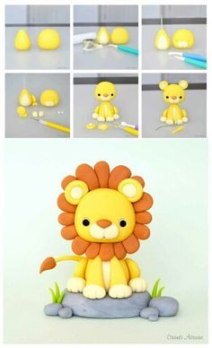 1000+ images about Tortas cumple 1 on Pinterest | Cakes, Lion and Cake toppers