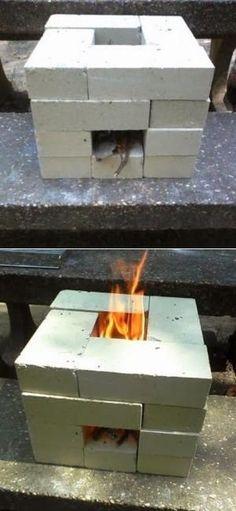 How to Make a 16 Brick Rocket Stove by So Bai