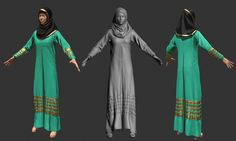 Female Muslim Dress with Zbrush + Marvelous Designer (Time Lapse)