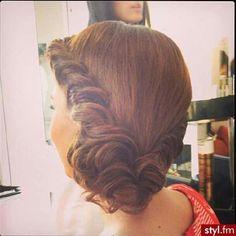 Beautiful wedding hair updo