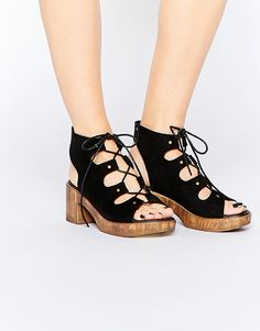 8ebfca8e93f Image 1 of Truffle Collection Talin Ghillie Platform Mid Heeled Sandals Mid  Heel Sandals