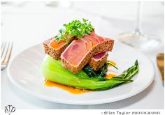 Small Plates Bar Menu Seared Pepper Crusted Ahi with Baby Bok Choy