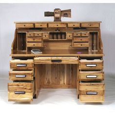 picture of wood rustic furniture |  country-desk-country