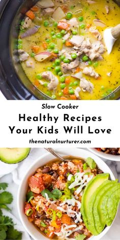 Life is busy. Between school and work schedules, after school activities, social events and everything else, getting a healthy dinner on the table can be tricky. These healthy slow cooker recipes are not only going to make dinner easier, but your family is going to love them! #slowcooker #healthyrecipe #dinner #veggieloaded #healthy @naturalnurturer   thenaturalnurturer.com