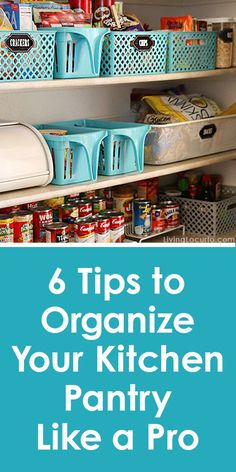 Great organization tips for the kitchen! With a few easy steps you too can have a kitchen pantry that looks like it's been decluttered by a professional organizer!