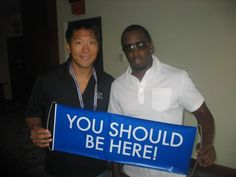 Sean Combs aka P. Diddy aka Puff Daddy takes a moment to pose with the You Should Be Here banner. Vacation Trips, Dream Vacations, Dream Trips, Get Paid For Surveys, Get Paid To Shop, Puff Daddy, 5 Star Resorts, Hotel Packages, World View