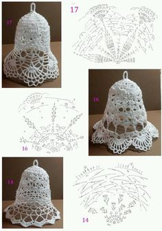 Free Christmas Crochet Patterns for Beginners ~ Search for Most Techniques About Incredible 41 Images Free Christmas Crochet Patterns for Beginners for Distinctive Easy Crochet Dish Cloth Pattern On Free Christmas Crochet Patterns for Beginners Crochet Christmas Decorations, Crochet Christmas Ornaments, Christmas Crochet Patterns, Christmas Knitting, Christmas Bells, Christmas Crafts, Crochet Snowflake Pattern, Crochet Flower Tutorial, Crochet Snowflakes