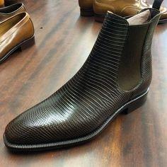 Carmina shoemaker — Carmina Shoemaker chelsea boot in brown lizard....