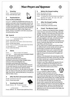 Catholic Mass Prayers, Catholic Beliefs, Catholic Quotes, Catholic Orders, Nicene Creed Catholic, Holy Rosary Prayer, Gospel Reading, Apostles Creed