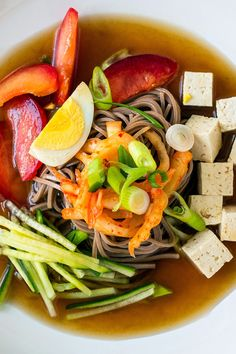 Korean Chilled Buckwheat Noodles With Chilled Broth and Kimchi Recipe - NYT Cooking