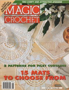 Magic Crochet Magazine June 1997 Crochet Patterns by creekyattic, $5.00