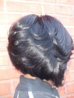 side of razor cut bob hair style.I want this badly! Love Hair, Great Hair, Gorgeous Hair, Beautiful, Short Hair Cuts, Short Hair Styles, Bob Styles, Bob Hairstyles, Black Hairstyles