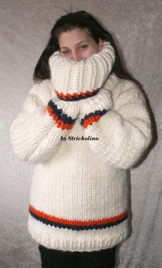 Womens Knit Sweater, Men Sweater, Thick Sweaters, Polo Neck, White Patterns, Neck Warmer, Turtlenecks, Sweater Outfits, Vests