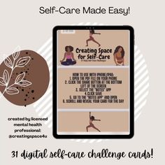 "Kamri, Self-Care/Growth Coach on Instagram: ""Still looking for that perfect gift? Give your loved ones a gift that encourages them to take time for themselves! Grab my 31 digital…"" Create Space, Self Care, Make It Simple, First Love, Encouragement, App, Digital, Gift, Instagram"