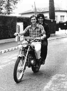 Johan Cruyff Hugo Sotil motorbike