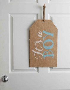 It's a Boy Door Tag