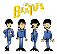 The Beatles Cartoon Tv Show Poster Dos Beatles, Les Beatles, Beatles Art, Beatles Photos, Cartoon Photo, Cartoon Tv, Drum Lessons For Kids, Chat 3d, John Lennon Paul Mccartney