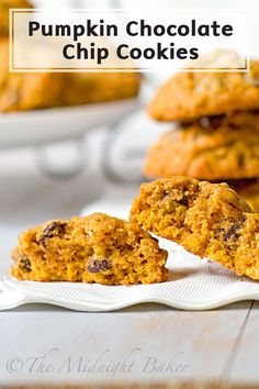 Celebrate the flavors of fall with this Pumpkin Chocolate Chip Cookies dessert recipe. Moist and soft with a cake-like texture, these cookies are so irresistible, you cannot eat just one!