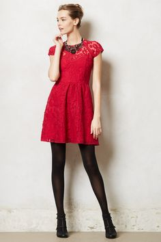 #Taisia #Dress #Anthropologie.com would look great with any of our opaque compression tights!