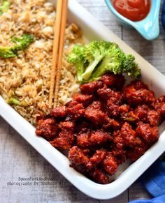 Kung Pao Chicken With Vegetable Fried Rice