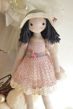 Collectible doll Elegant crochet doll child friendly by chepidolls