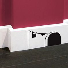 Mickey House Wall Stickers (If I hadn't caught 30+ mice in my garage last year, this would be cuter)