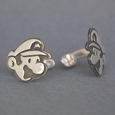 Sterling Silver Mario & Luigi Cufflinks