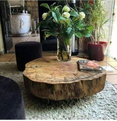 Coffee table design over is a really praiseworthy and contemporary layouts. Hope you understand or motivation for your contemporary coffee table. Unique Coffee Table, Cool Coffee Tables, Coffee Table Design, Decorating Coffee Tables, Modern Coffee Tables, Tree Stump Coffee Table, Tree Trunk Table, Design Table, Table Designs